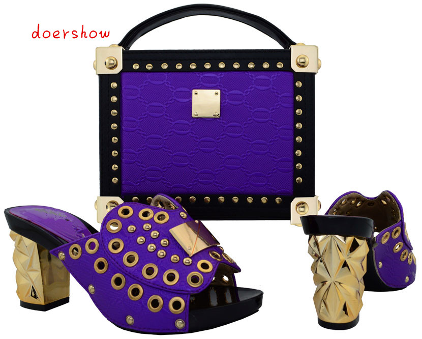 doershow 2016 new arrival fashion Italian shoes with matching bags set for wedding and party African shoes and bag sets!WVL1-6 doershow fast shipping fashion african wedding shoes with matching bags african women shoes and bags set free shipping hzl1 29