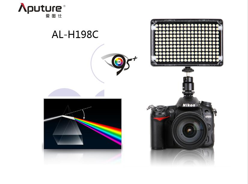 Aputure Amaran CRI 95+ AL-H198C LED Video Light Lamp 5500K / 3200K Dimmable for DLSR Cameras Photography Lighting aputure amaran hr672kit led video light set led photography light led light hr672wws kit