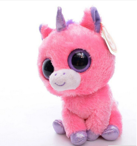 Free Shipping 15cm Original Ty Collection Magic Pink Unicorn Plush