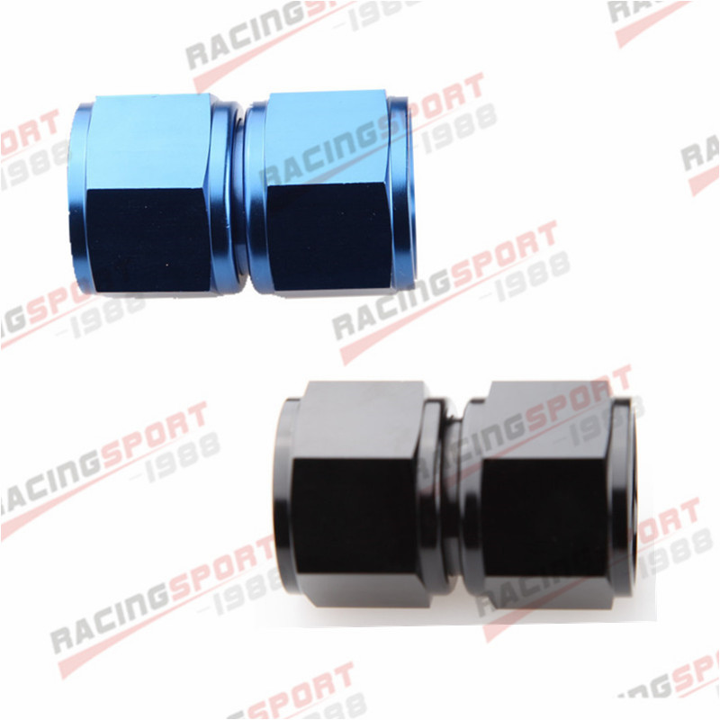 """90 Degree 6AN AN6 AN-6 Female to 3//8/""""10mm Barb Hose Adapter Fitting Blue"""