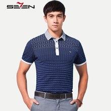Seven7 Men Fashion Polo Shirts Summer Slim Fit Short Sleeve Performance Polo Shirts Floral Print Striped Polo Shirts 110T50490