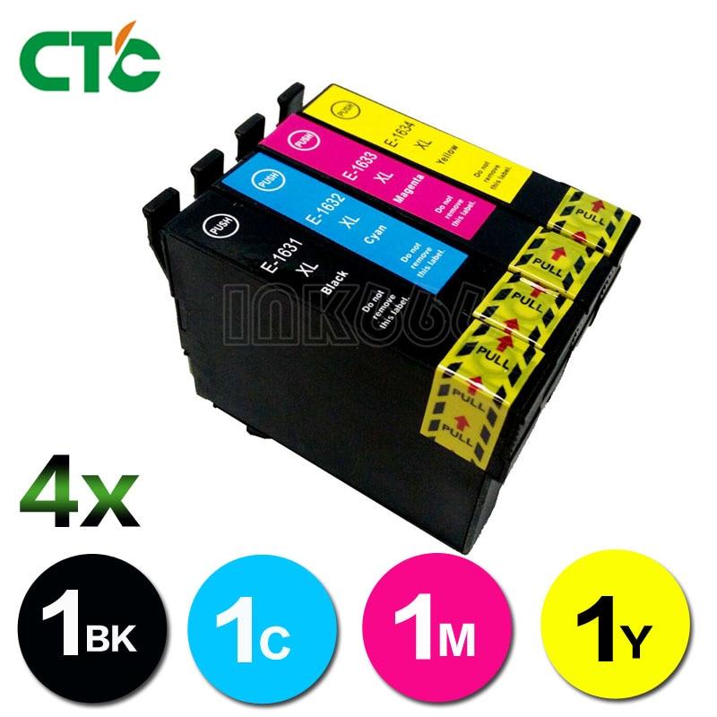 1 Set 16 16xl Compatibele Inkt Cartridge Voor Workforce 2010 2510 2520 2530 2540 2750 2760 Printer T1631 T1621
