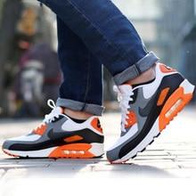 Оригинальные аутентичные NIKE для мужчин воздуха MAX 90 ESSENTIAL дышащие кроссовки спортивная обувь Спорт на открытом воздухе теннис дизайнер спорти