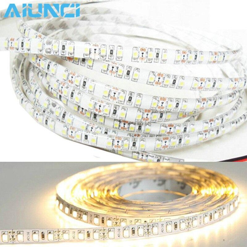 IP65 Waterproof 300leds/5M SMD 3528 2835 RGB LED Strip Flexible Diode Tape 12V LED Ribbon 60LED/M Ledstrip For Home Decoration