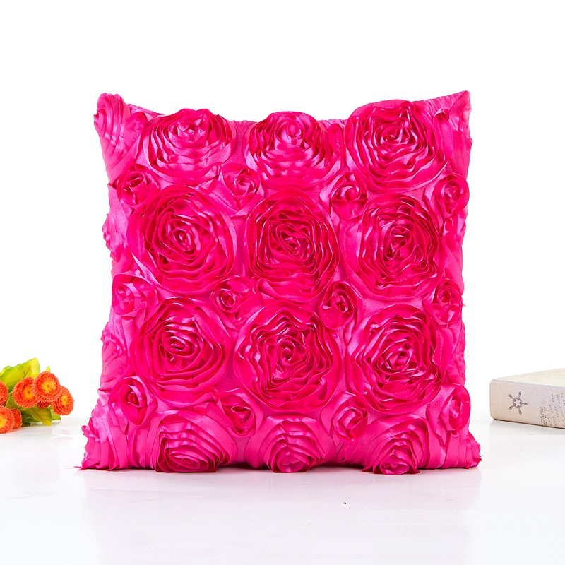 US $4.96 29% OFF|Rainbow Flower Cushions Cover Red Green Pink Solid Color  Satin Pillows Covers 11 styles Bedroom Sofa Decoration-in Cushion Cover  from ...