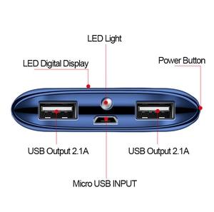 Image 5 - Внешнее зарядное устройство для Xiaomi MI iphone X, 20000 мАч, портативное зарядное устройство с 2 USB, 2019