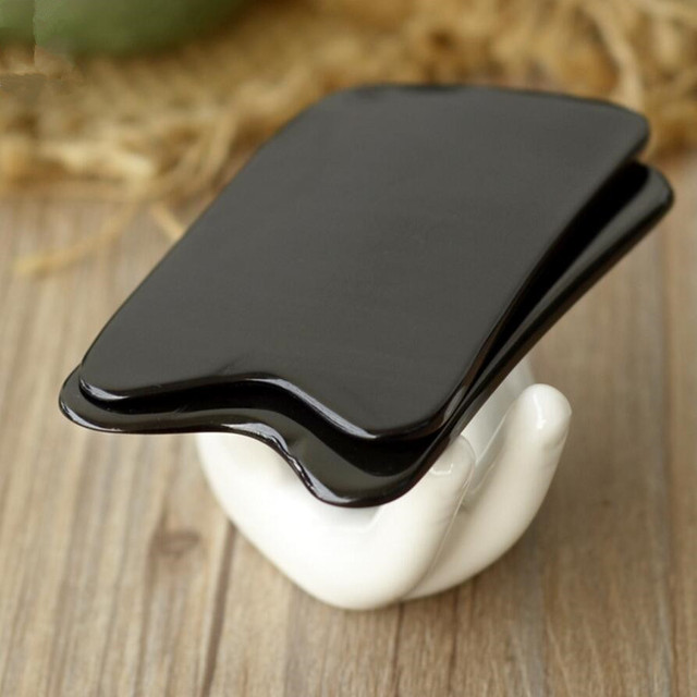 Large Natural Buffalo horn SPA Scraping Plate Body Massager Chinese Traditional Acupuncture Massage Face GuaSha Board Therapy