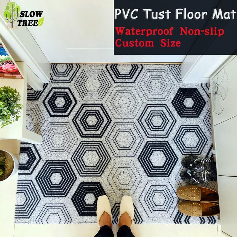 Tapis de sol en PVC dépoussiérage bobine tapis antidérapant coupe libre taille personnalisée fil tapis paillasson salle de bain tapis chambre tapis