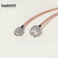 Wysokiej jakości o niskim poziomie strat UHF wtyk męski PL259 przełącznik TNC męski kabel Pigtail RG142 50 CM/100 CM hurtownie cena w Złącza od Lampy i oświetlenie na