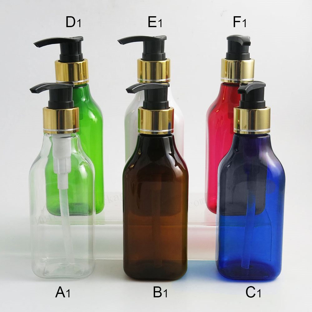 200 x  7oz Pump Dispenser Empty Soap and Lotion Bottle with Locking Cap PET Cosmetic Containers for Liquid