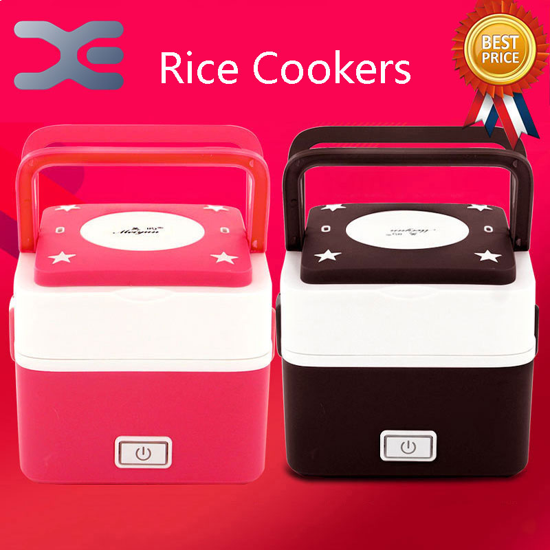 2 Layer Electronic Heating Lunch Box Square Rice Cooker 1.3L Small appliances Electric Lunch Box bear dfh s2516 electric box insulation heating lunch box cooking lunch boxes hot meal ceramic gall stainless steel