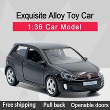 RMZ CITY 1:36 Golf GTI литой автомобиль из сплава, модель игрушки с откидной спинкой для детей, подарки, коллекция игрушек