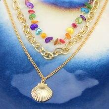 Новинка богемное многослойное ожерелье с подвеской в виде ракушек