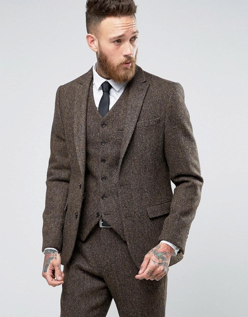 latest coat pant designs brown tweed suits men formal. Black Bedroom Furniture Sets. Home Design Ideas