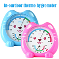 Baby Child Kids Room Thermometer Indoor Outdoor thermo hygromete Happy Cat Scale Temperature r tool bebe for Children household