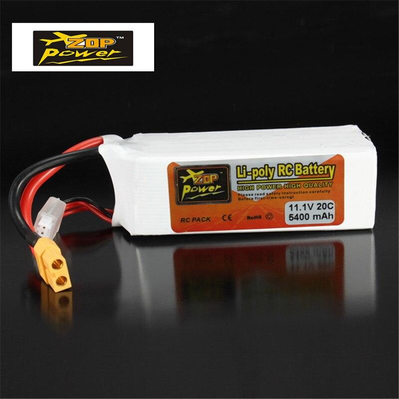 New Original ZOP Poder Recarregável 11.1 V 5400 mAh 3 S 20C Bateria Lipo XT60 Plug