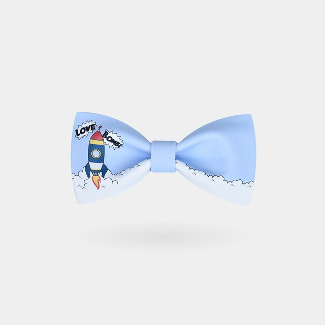 corbata Hombres Amor de la de Azul Lazo dibujos moda animados Claro Bomba Corbata de tdtrwvq