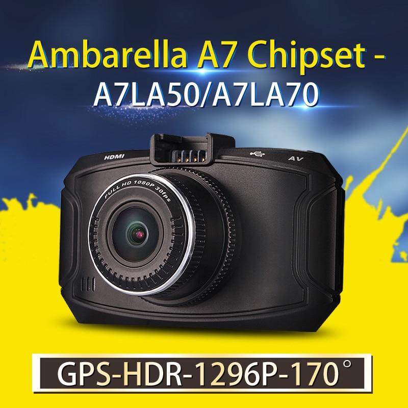 Ambarella A7 Car DVR GS90C GS90A G90 Car Camera 1296P HD DVR Recorder Dash Cam GPS