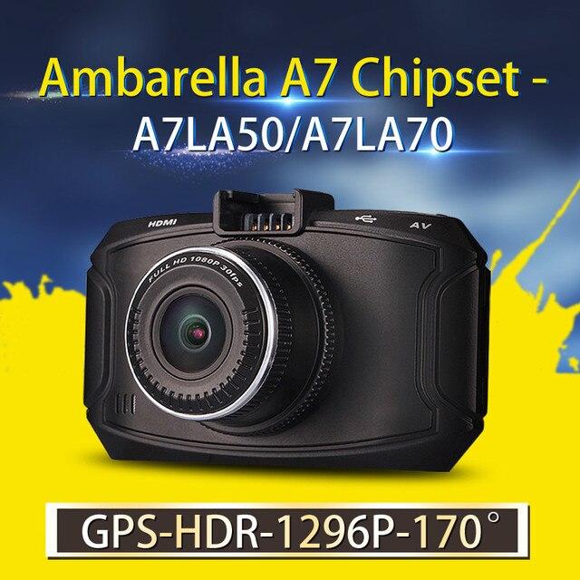DVR Carro Ambarella A7 GS90C XYCING/GS90A/G90 Gravador de Câmera Do Carro 1296 P HD DVR Traço Cam GPS Logger Night Vision Veículo Camcorder