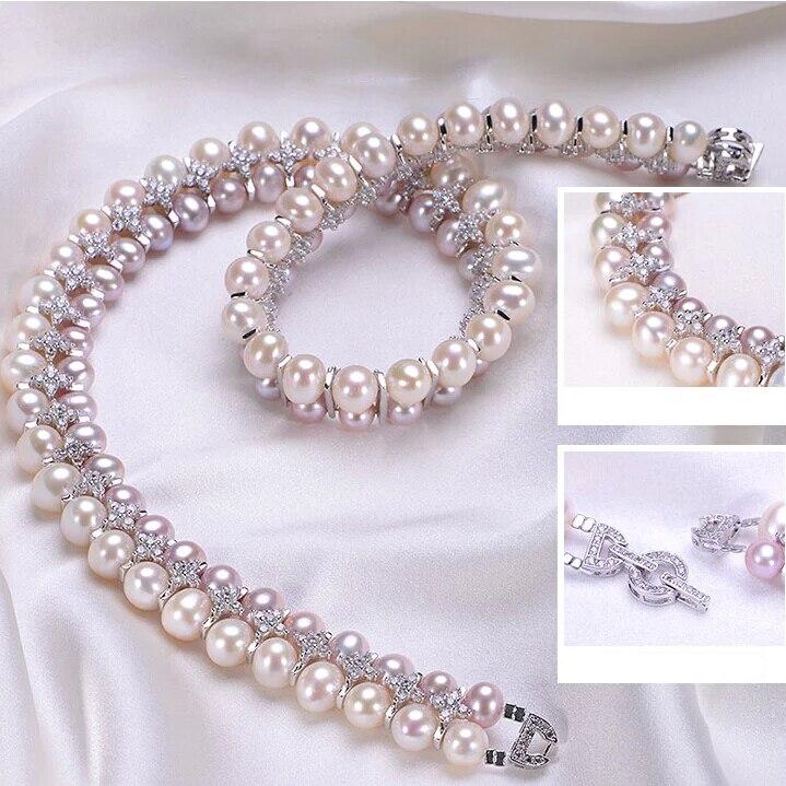 ZHBORUINI Mode Halskette Perlenschmuck Natürliche Süßwasserperlen - Edlen Schmuck - Foto 3