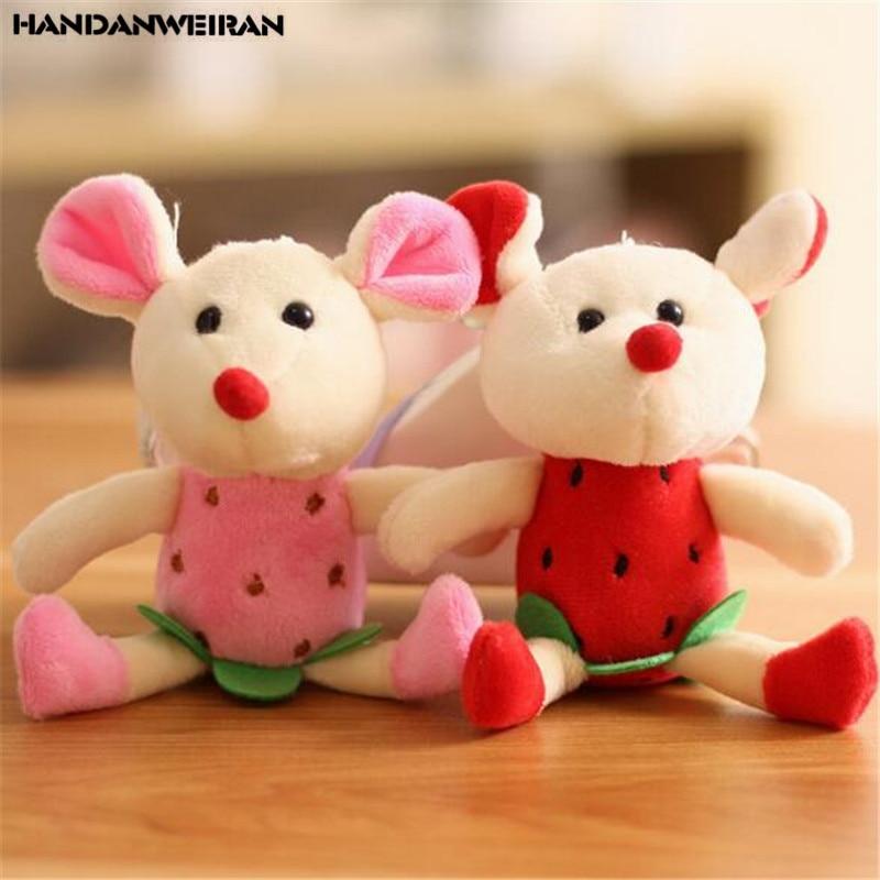 1PCS Fruit Plush Mouse Toys Small Pendant Mini Cute Soft Stuffed Mice Toy  Holiday Girls Gift 12CM HANDANWEIRAN