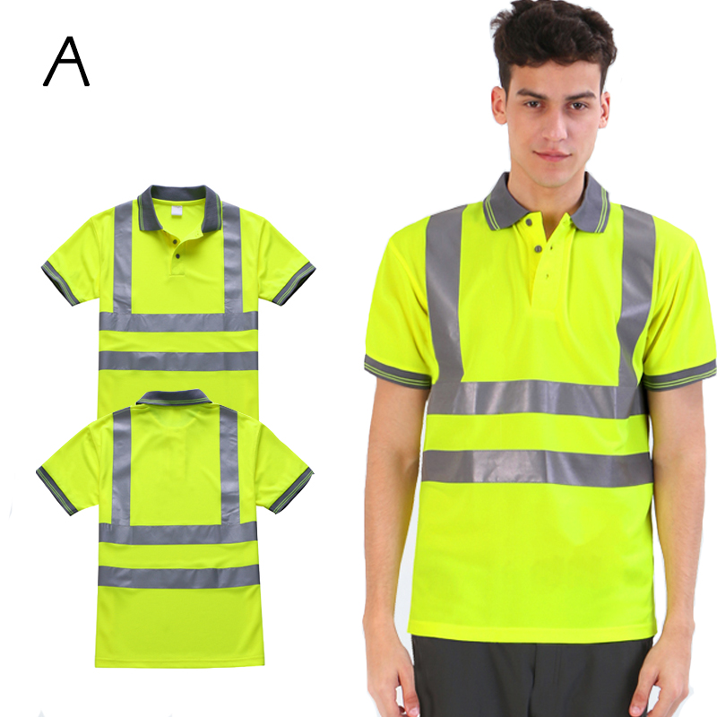 Breathable Quick-drying Unisex Safety High Visibility Reflective T-shirt For Sport, Outdoors, Cycling Wholesale Logo Printing ccgk safety clothing reflective high visibility tops tee quick drying short sleeve working clothes fluorescent yellow workwear