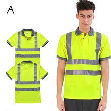 Breathable Quick-drying Unisex Safety High Visibility Reflective T-shirt For Sport, Outdoors, Cycling Wholesale Logo Printing