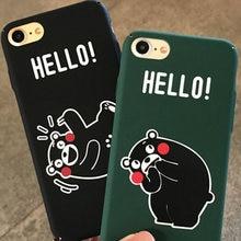 225d6e5051 Kumamon Bear Case For iPhone 8 8plus 7 7 Plus Cases Cartoon Phone Case For iphone  6 s 6s Plus 6 Plus Cases Cover Coque Capinha