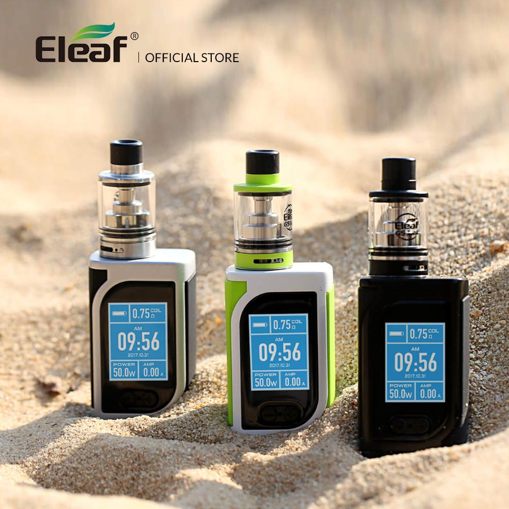 Warehouse Original Eleaf iStick Kiya Kit With GS Juni Atomizer Built in 1600mAh 0.75ohm/1.5ohm GS Air Coil Electronic Cigarette