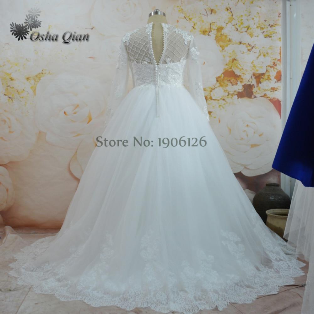 Dubai Wedding Dresses Custom Plus Size Wedding Gowns Lace Long ...