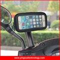 Scooter espejo retrovisor de la motocicleta espejo monte mount holder teléfono celular caso para iphone 5/5s