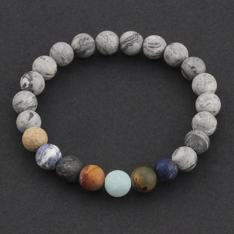 DIEZI Yoga Men Universe Galaxy Planets Stone