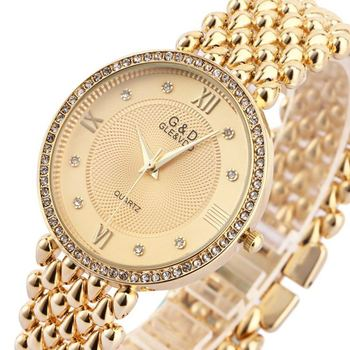 G & D Vrouwen Horloges Quartz Horloge Dames Armband Horloge Jurk Relogio Feminino Saat Geschenken Top Merk Luxe Reloj Mujer zilver