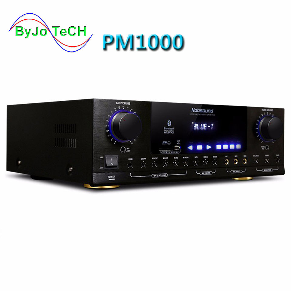 Nobsound PM1000 Amplifier KTV karaoke Bluetooth amplifier Support MP5 USB / SD Play APE Music support 220V and 110V