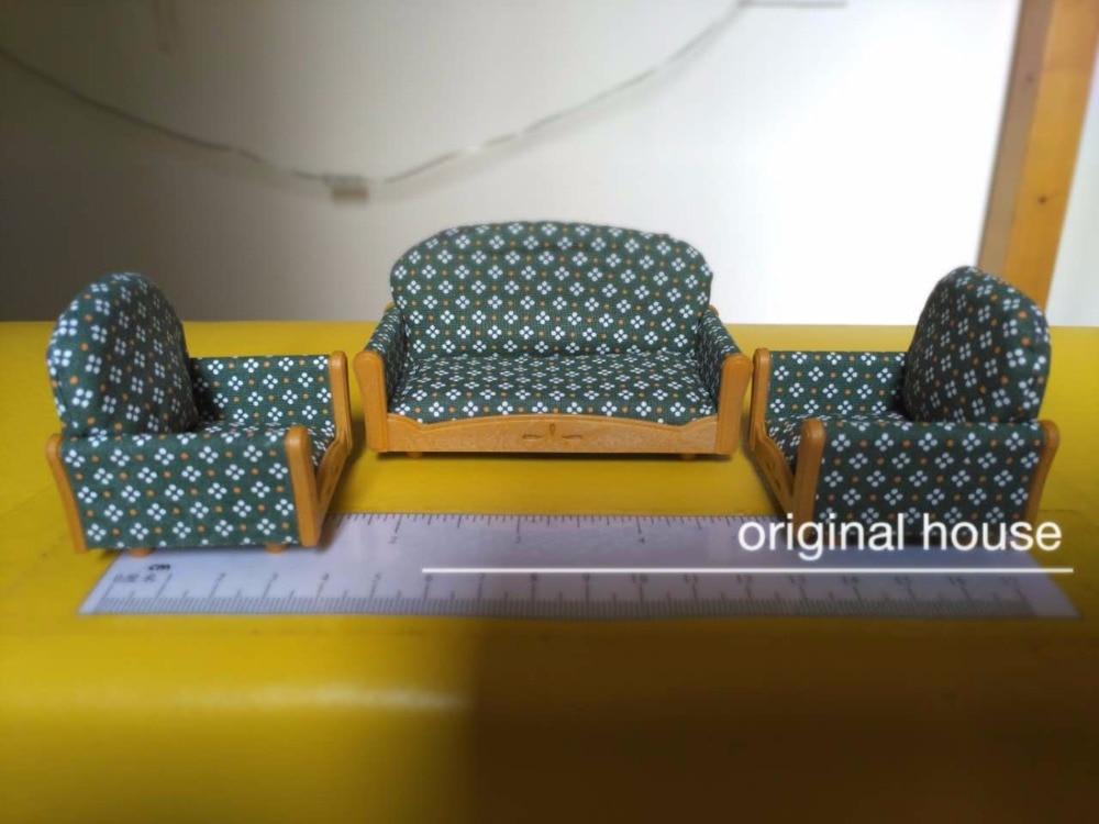 1 set of sofa Sylvanian Family mini Couch sofa set mini