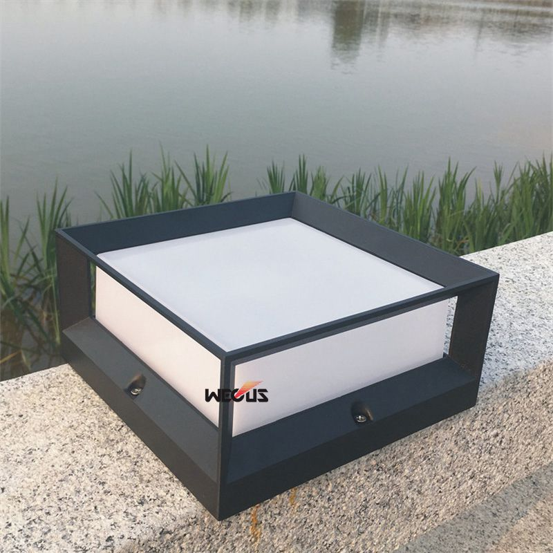 Outdoor waterproof LED courtyard stigma lights, wall pillars lights, simple square outdoor lights
