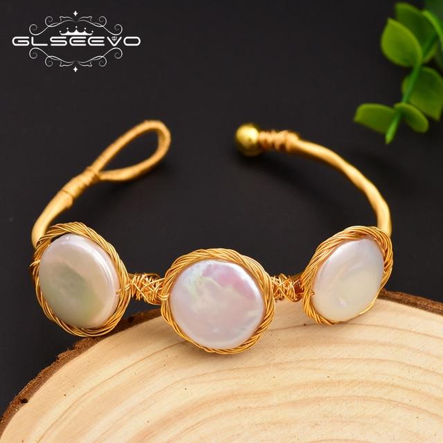 Фото женские жемчужные браслеты барокко glseevo подарочные bileklik