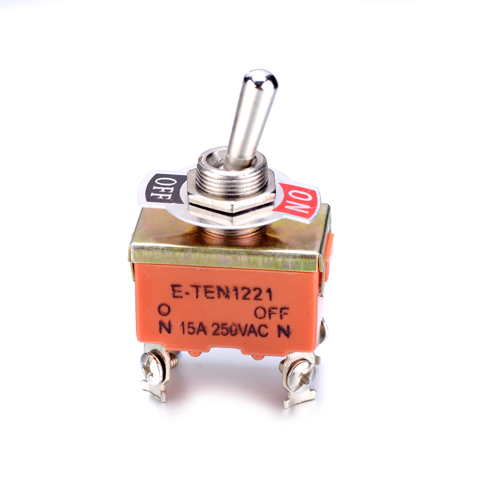 1Pc KN1221 AC or DC 250V 15A Mini Toggle Switch SPST 4Pins ON OFF Toggle Switch for Household appliances 53X33mm Switches  - AliExpress