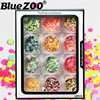 Mixed Color Mini Round Ultrathin Paillettes Nail Art Decorations Glitter 1 2 3mm Small Size 3D