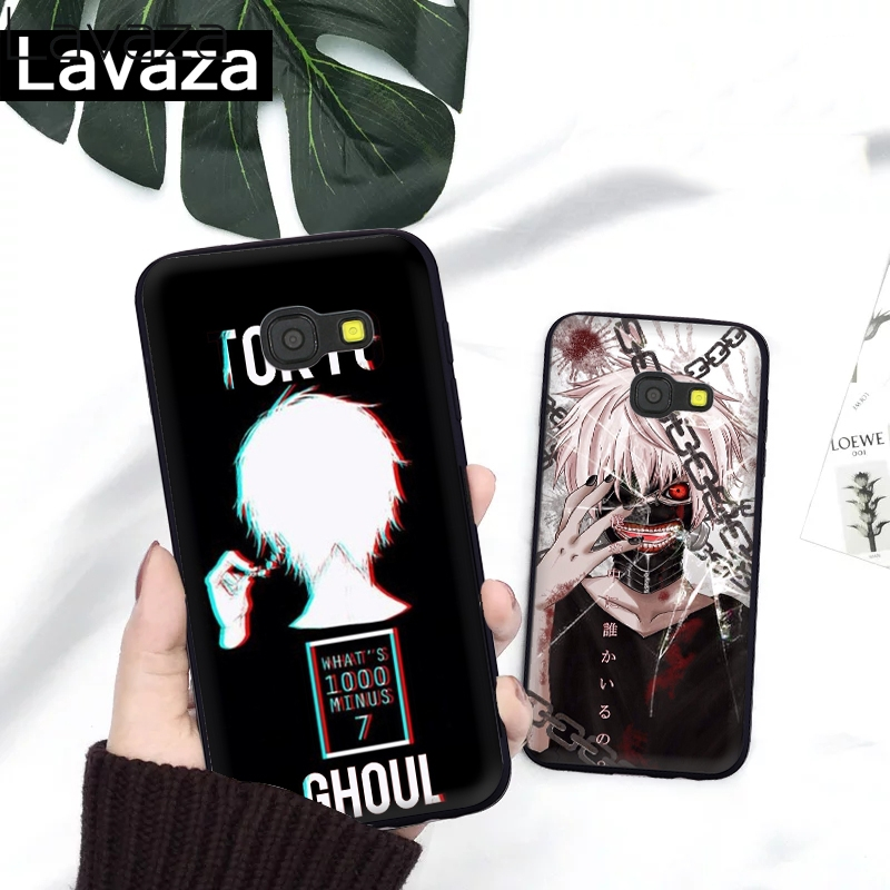 Lavaza Anime Tokyo Ghoul Silicone Case for Samsung A3 A5 2016 2017 A6 Plus A7 A8 A9 A10 A30 A40 A50 A70 J6 2018 A10S A30S A50S in Fitted Cases from Cellphones Telecommunications