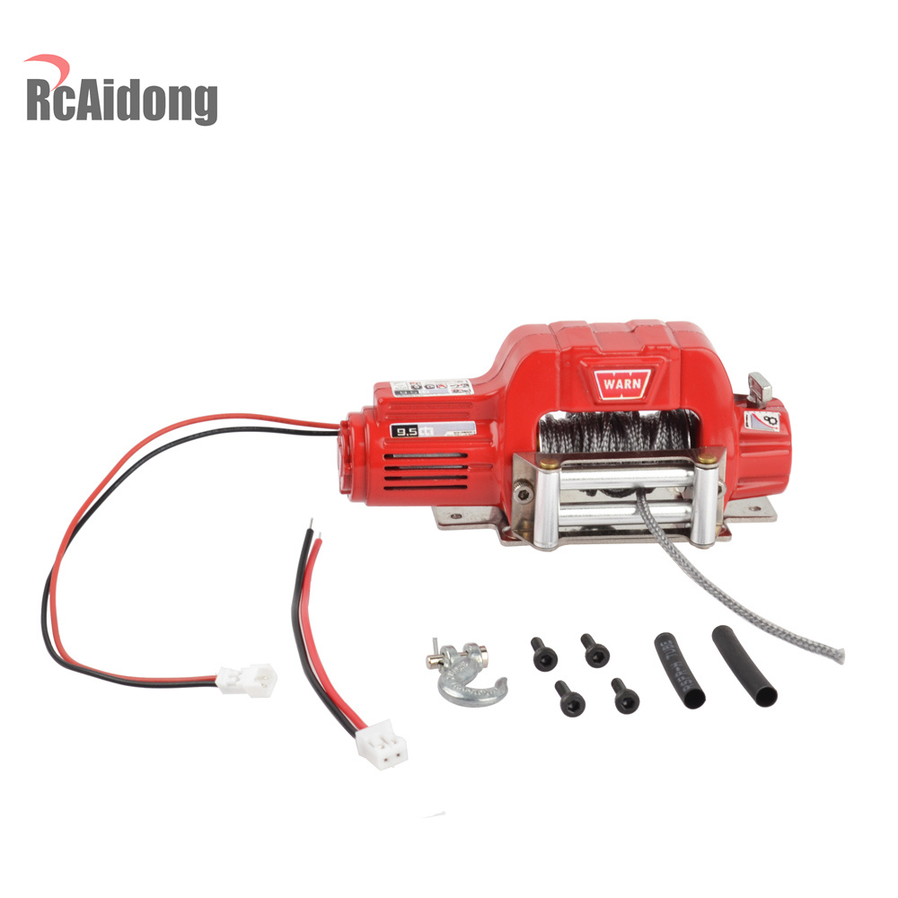 RC Crawler 1:10 Metal Mini Electric Winch for 1/10 RC Rock Crawler 90046 D90 SCX10 Traxxas TRX4 TRX-4 D110 Tamiya CC01 rc 1 10 crawler metal electric winch for 1 10 rc rock crawler traxxas trx 4 axial scx10 rc4wd d90 d110 tamiya cc01