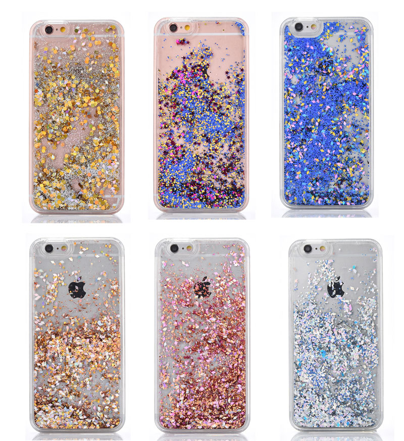 separation shoes fe40d 23e3e US $2.04 |Flowing Water Liquid Case for iPhone X 4 4S 5 5S SE 6 7 8 6s plus  Diamond quicksand Glitter Stars Phone Case for iPod iTouch 5 6-in Fitted ...