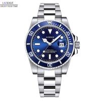 Hot Sale Waterproof Mens Watch Full Steel Green Quartz Watch Luxury Brand Fashion Submariner Watch Men Male Wrist Watch Clock