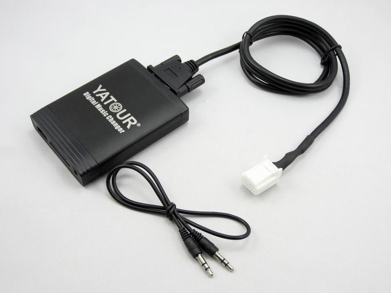 Yatour YT-M06 pour Toyota Lexus Scion 2003-2013 Voiture Numérique Musique Changeur USB MP3 Lecteur Audio Aux 6 + 6 pin Avensis Corolla ES EST