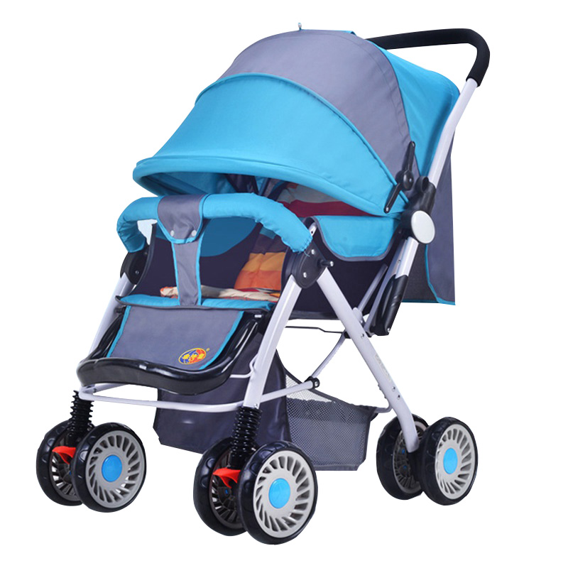 High Quality Baby Stroller High Landscape Pushchair Pram Buggy Lightweight Seat Lying Strollers Four Wheel Baby Carriage