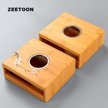 Natural Bamboo Heater Base Warm Tea Stove Heating Coffee Milk Tea Warmer Chinese Kung Fu Tea Set Accessories Teapot Base Holder(China)