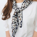 70X70 cm silk cotton blended small square Korean style and more models to wear more scarf scarf
