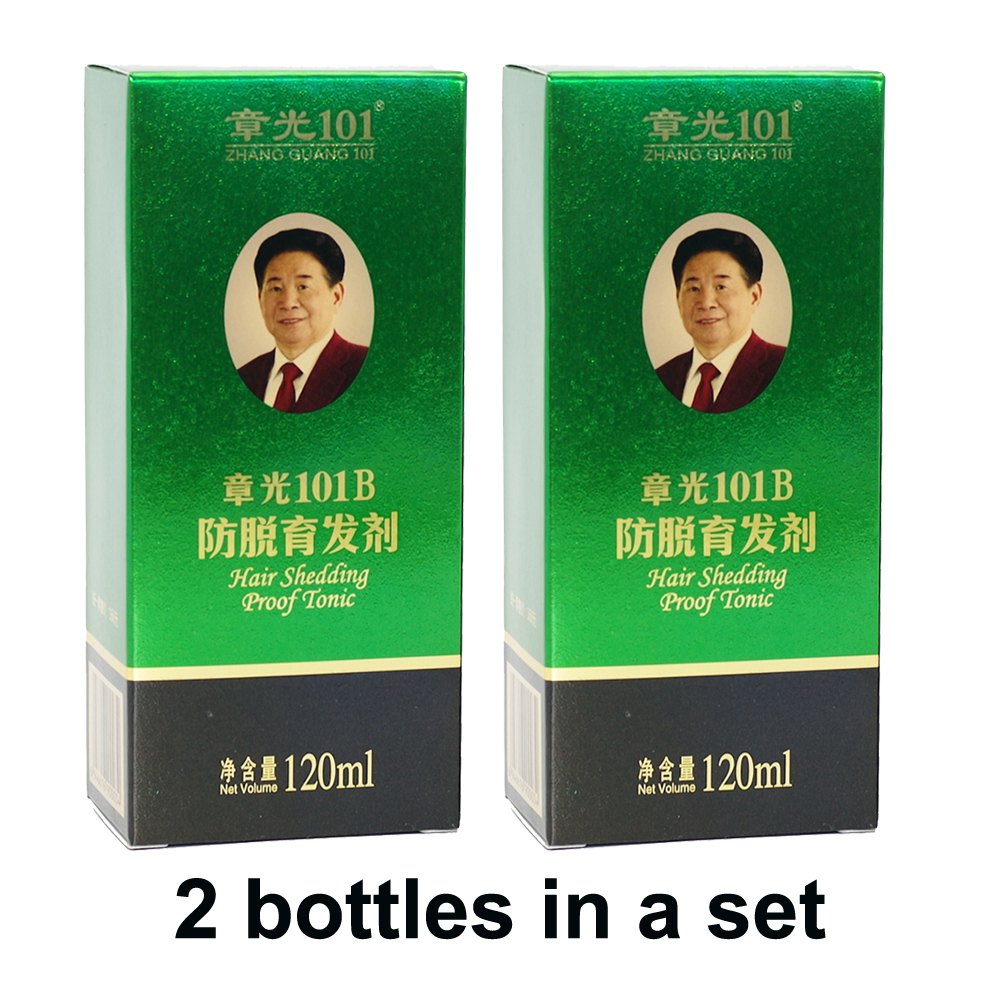 Zhangguang 101 B formule cheveux tonique 2X120 ml deux pièces dans un ensemble chinois médecine thérapie traitement des cheveux Essence 100% original