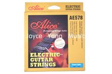 Top Alice AE578-SL Electric Guitar Strings Gold-Plated High Carbon Steel Golden Coated Copper Alloy Wound Strings