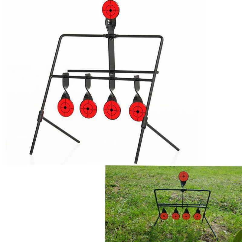 New Shooting Target 4 Targets Automatic Reset Rotating Outdoor Hunting Target Set Useful Target
